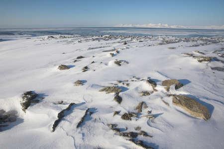 Arctic landscape - frozen tundra