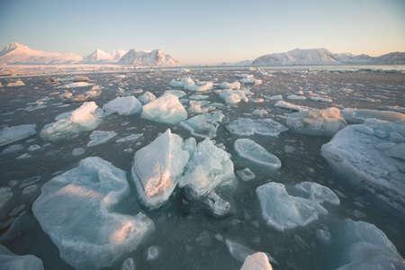 spitsbergen: Arctic frozen fjord - Spitsbergen