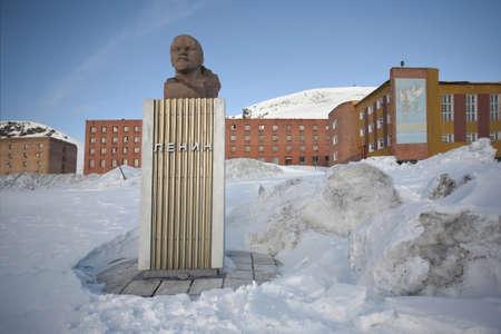 svalbard: Lenin statue - Barentsburg, Svalbard, Arctic