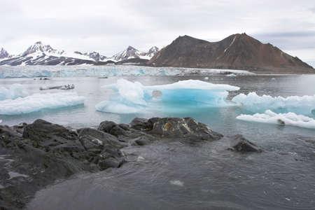 spitsbergen: Arctic summer landscape - Spitsbergen Stock Photo