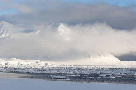 Arctic winter landscape photo