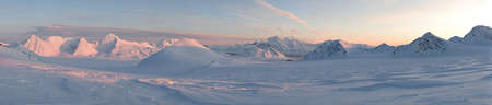 Mountains and glaciers landscape - PANORAMA photo