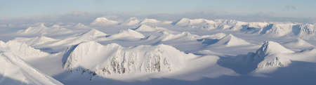 arctic landscape: Winter mountain panorama landscape
