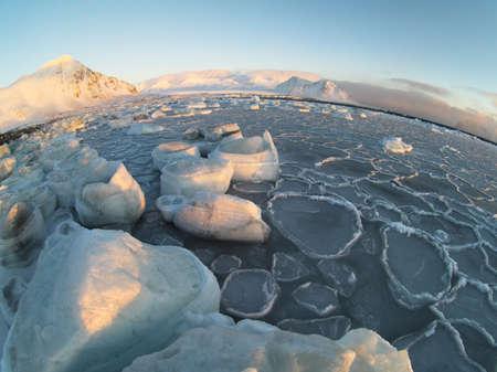 svalbard: Arctic frozen world - Svalbard Stock Photo