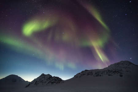 lapland: Arctic magical landscape - Northern Lights - Spitsbergen, Svalbard