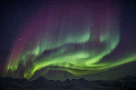 Arctic magical landscape - Northern Lights