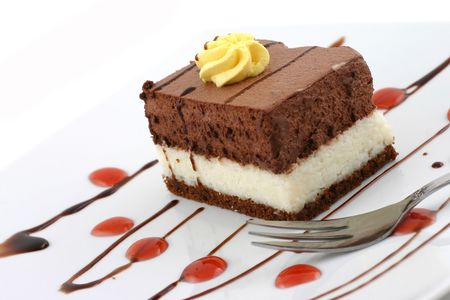 chocolate cake - sweet dessert Stock Photo