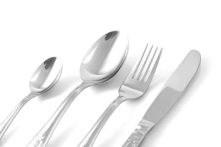 tableware (fork, knife and spoon)