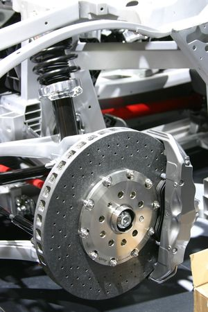Brakes and suspension Stock Photo