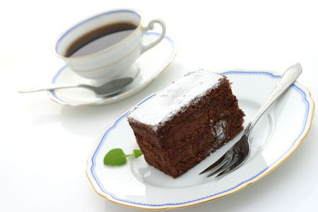 cup of coffee and chocolate cake Stock Photo - 2812987