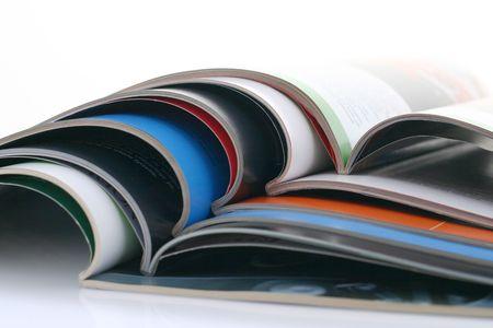 opened magazines