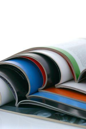commentary: abri� revistas  Foto de archivo