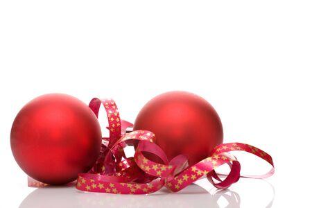 Red balls - Christmas decoration Stock Photo - 3459096
