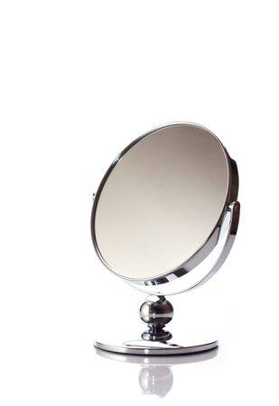 penumbra: Mirror on white background Stock Photo