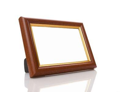 frame on white background photo