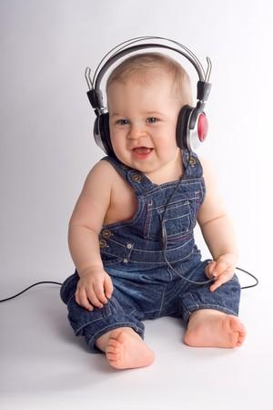 Eight month beautiful baby boy Stock Photo