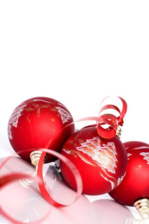 Red balls - Christmas decoration Stock Photo - 5869637