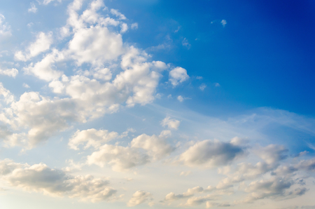 texture of a blue sky with white clouds