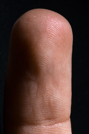 an image of human finger close up