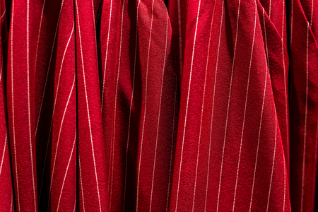 Texture for background, red fabric full frame. Horizontal frame