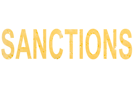 the word sanctions isolated on white