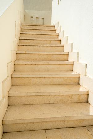 light concrete steps go up to the whole frame. Vertical frame