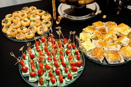 Many different meat canapes for the whole frame.