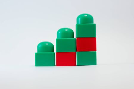 ladder of green and red blocks