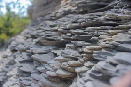 small mountain stones closeup