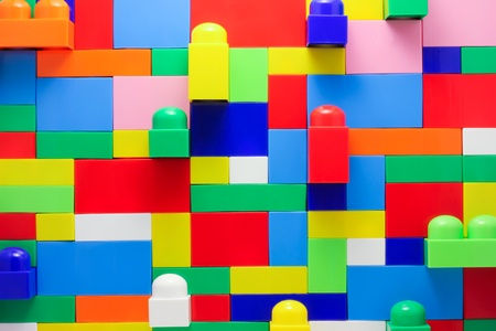 Wall of Toy blocks
