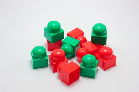 Toy blocks on a white background