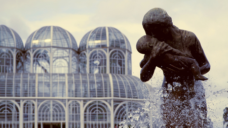 The Statue in the Botanical Garden of Curitiba, Brazil 写真素材 - 102547272
