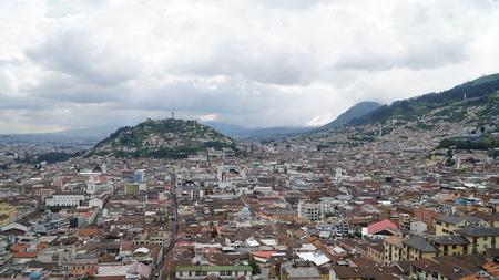 View Over The Historic Center Of Quito, Ecuador