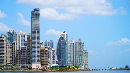 Panama City With Skyscrapers 스톡 콘텐츠