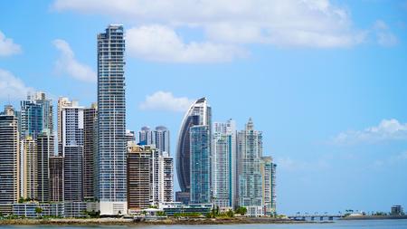 Panama City With Skyscrapers Stockfoto