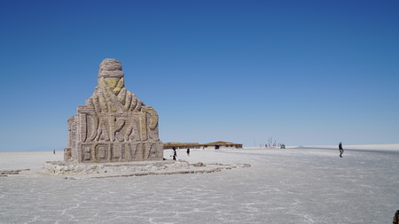 Dakar Monument In Uyuni, Bolivia, South America Stockfoto