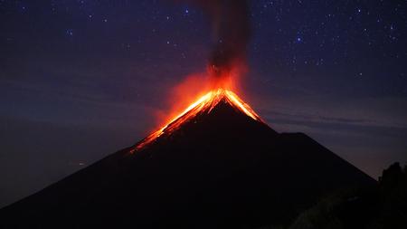 volcano eruption Stockfoto