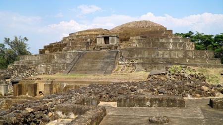 エルサルバドルのタズマ・マヤ遺跡 写真素材