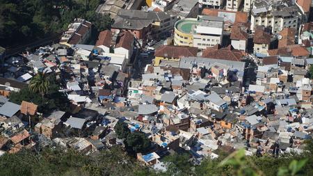 ブラジル・リオデジャネイロのファヴェーラ 写真素材