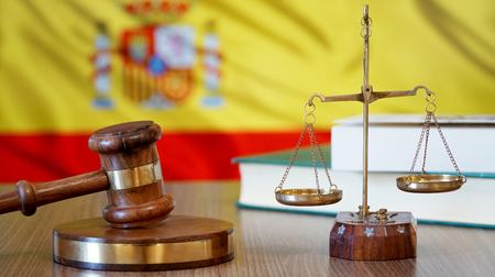 スペイン裁判所におけるスペイン法の正義 写真素材