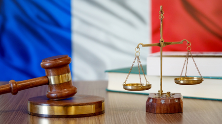 Justice for France Laws in French Court 写真素材 - 102435240