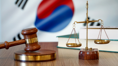 Justice for South Korea Laws in Korean Court 写真素材 - 102435241