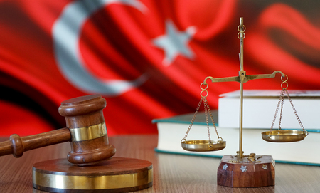 Justice for Turkey Laws in Turkish Court Stockfoto