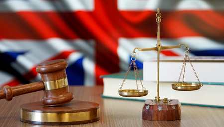 Justice for Britain Laws in British Court Stockfoto