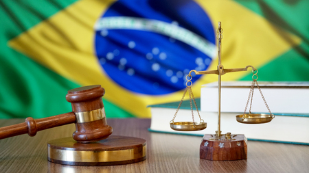 Justice for Brazil Laws in Brazilian Court Stockfoto