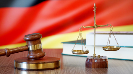 Justice for Germany Laws in German Court Stockfoto