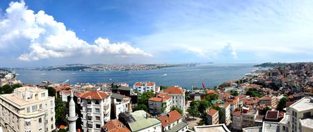 Istanbul Turkey Panorama Stockfoto