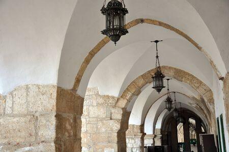 Inside of the Al Aqsa Mosque, Jerusalem