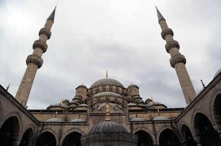 The Mosque, Islamic Ottoman Style Building in Istanbul, Turkey