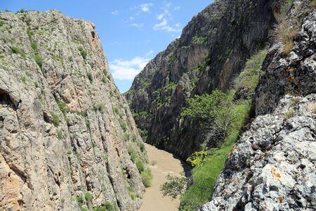Dark Canyon In Erzincan, Turkey
